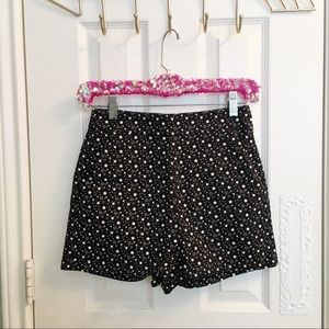 Zara Shorts - Zara Trafaluc High Waisted Black Star Print Shorts